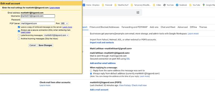 gmail- leave copy of email on server